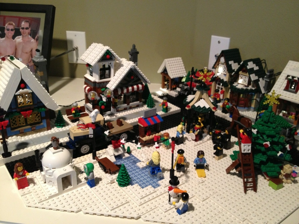 lego christmas village