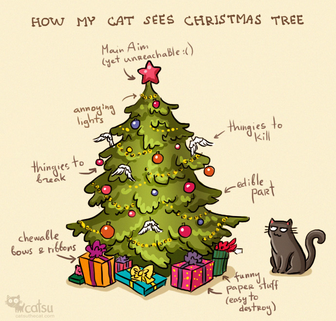 Daily Cat and Christmas Tree | A Very Atheist Christmas