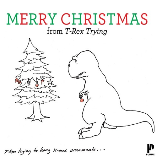 T-Rex trying to hang ornaments | A Very Atheist Christmas