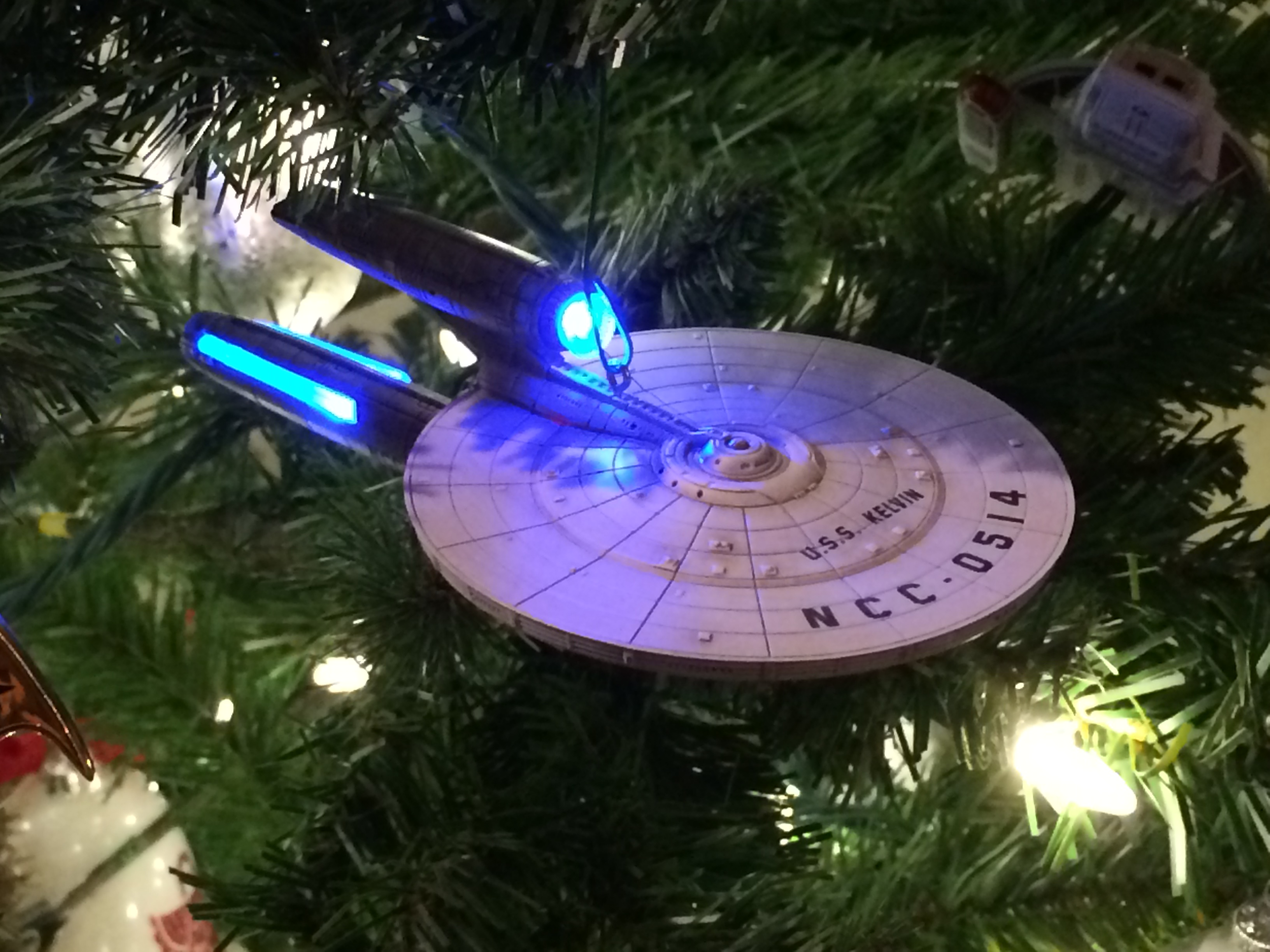 Hallmark 2013 Star Trek Ornament – USS Kelvin | A Very Atheist Christmas