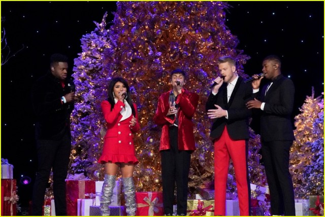 the odd thing about the pentatonix special is that there were only four of them the guy on the right was a guest bass singer what happened to the fifth - Penatonix Christmas